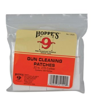HOPPE'S HOPPE'S BULK BORE CLEANING PATCHES (500-PACK) - .22-.270 CAL