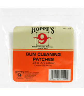 HOPPE'S HOPPE'S BULK BORE CLEANING PATCHES (650-PACK) - .270-.35 CAL