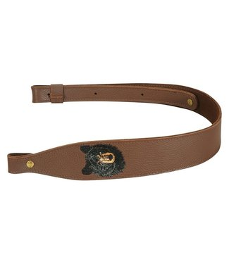 LEVY'S LEVY'S LEATHER SLING W/ BEAR EMBLEM