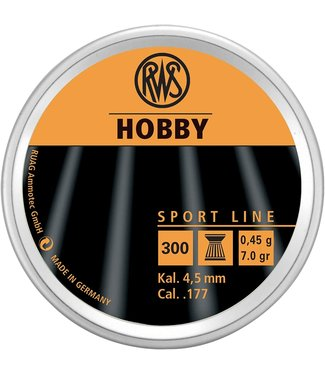 RWS HOBBY RWS HOBBY .177 - FLAT TOP PELLETS (500-COUNT)