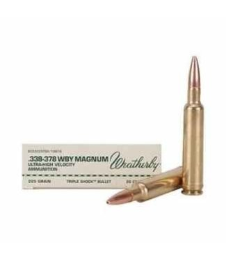 WEATHERBY WEATHERBY .338-378 WBY MAG - 200GR - ACCUBOND (20 CARTRIDGES)