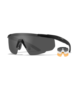 WILEY X WILEY X SABER ADVANCED - POLARIZED BALLISTIC-RATED SAFETY SUNGLASSES - INTERCHANGEABLE THREE-LENS SYSTEM