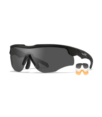 WILEY X WILEY X WX ROGUE BALLISTIC-RATED SAFETY SUNGLASSES W/ COMM TEMPLE - INTERCHANGEABLE THREE-LENS SYSTEM