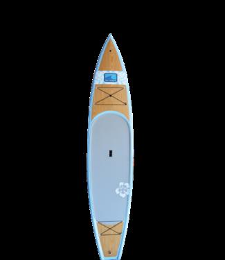 "BLU WAVE BLU WAVE CATALINA WOOD  SUP LIGHT BLUE/PAULOWNIA 11'4"""
