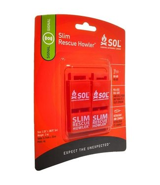 SOL SOL SLIM RESCUE HOWLER WHISTLE (2-PACK)