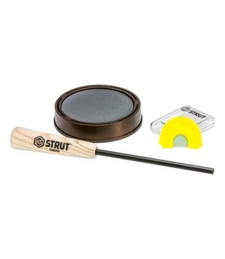 HUNTERS SPECIALTIES HUNTERS SPECIALTIES RASPY OLD HEN GLASS PAN CALL AND DOUBLE REED DIAPHRAGM