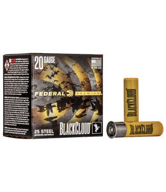 """FEDERAL FEDERAL 20-GAUGE - 3.00"""" - #4 SHOT - BLACK CLOUD STEEL (25 SHOTSHELLS)"""