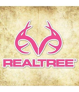 "REALTREE CAMO GRAPHICS REALTREE CAMO GRAPHICS REALTREE ANTLER LOGO VINYL DECAL - PINK CAMO (4""X5"")"