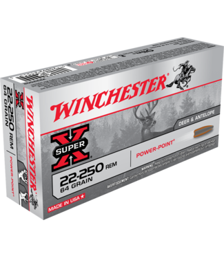 Winchester WINCHESTER .22 -250 REM - 64GR - SUPER X POWER POINT (20 CARTRIDGES)