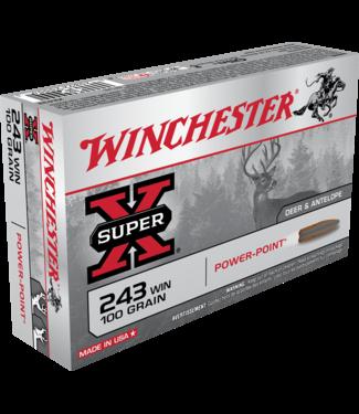 Winchester WINCHESTER .243 WIN - 100GR - SUPER X POWER-POINT (20 CARTRIDGES)