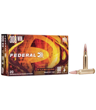 FEDERAL FEDERAL .308 WIN - 180GR - FUSION BONDED SOFT POINT (20 CARTRIDGES)