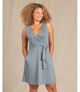 TOAD & CO WOMEN'S TOAD & CO CUE SLEEVELESS DRESS