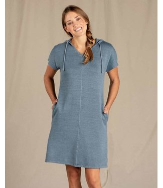 TOAD & CO WOMEN'S TOAD & CO EPIQ HOODED SHORT SLEEVE DRESS