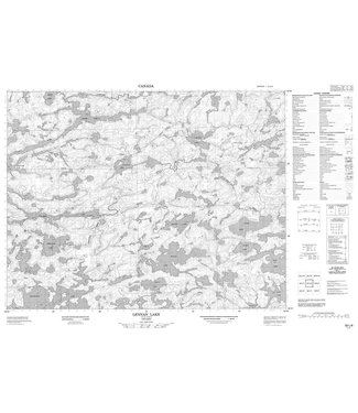 CANADIAN TOPO CANADIAN TOPO TOPOGRAPHIC MAP -  052L08 - LENNAN LAKE