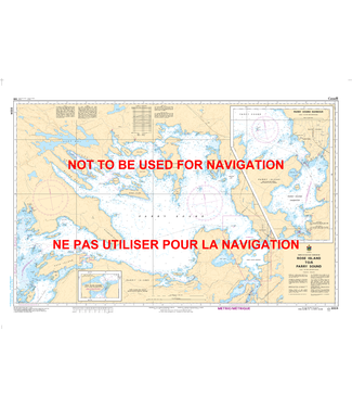 CANADIAN HYDROGRAPHIC SERVICE CANADIAN HYDROGRAPHIC SERVICE MARINE CHART - 2224 - GEORGIAN BAY - ROSE ISLAND TO PARRY SOUND