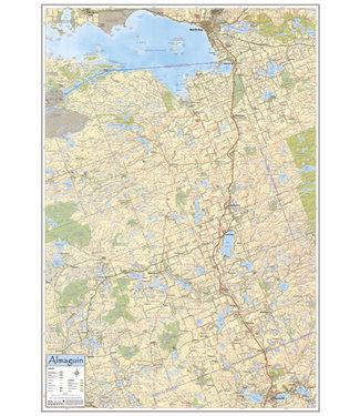 AQUATERRA MAPS AQUATERRA MAPS THE ALMAGUIN - WALL MAP OF ALMAGUIN HIGHLANDS