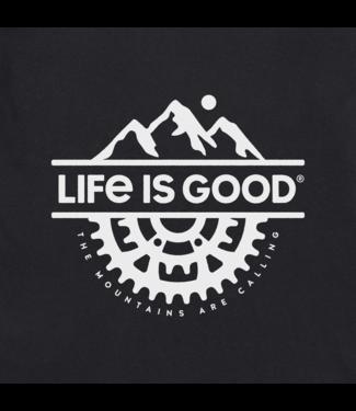 LIFE IS GOOD MEN'S LIFE IS GOOD MT BIKING JT/BLACK TEE