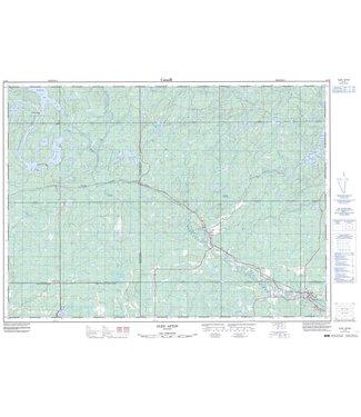 CANADIAN TOPO CANADIAN TOPO TOPOGRAPHIC MAP - 041I09 - GLEN AFTON