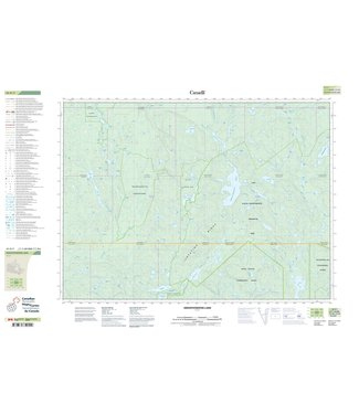 CANADIAN TOPO CANADIAN TOPO TOPOGRAPHIC MAP - 041P07 - SMOOTHWATER LAKE