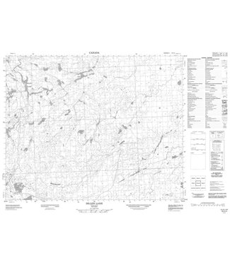 CANADIAN TOPO CANADIAN TOPO TOPOGRAPHIC MAP - 053A04 - DILLEN LAKE