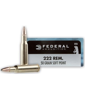 FEDERAL FEDERAL .222 REM - 50GR (SP) - POWER SHOK (20 CARTRIDGES)
