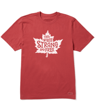 LIFE IS GOOD MEN'S LIFE IS GOOD CANADA STRONG FREE TEE