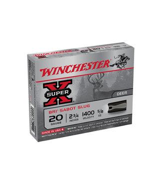 """Winchester WINCHESTER 20-GAUGE - 2.75"""" -  SABOT SLUG - SUPER X BRI (5 SHOTSHELLS)"""