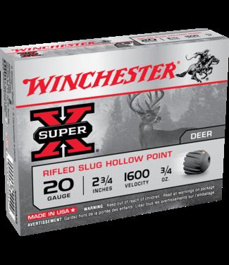 """Winchester WINCHESTER 20-GAUGE - 2.75"""" - SUPER X - RIFLED SLUG HOLLOW POINT(5 SHOTSHELLS)"""