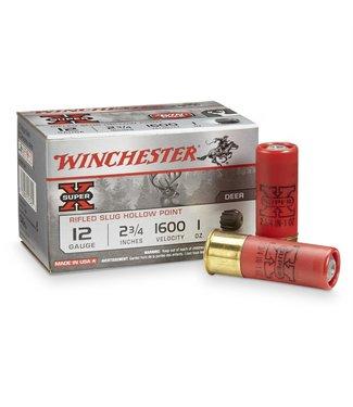 """Winchester WINCHESTER 12-GAUGE - 2.75"""" - SUPER X - RIFLED SLUG HOLLOW POINT(15 SHOTSHELLS)"""
