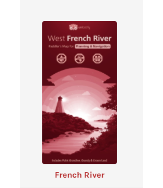 UNLOSTIFY UNLOSTIFY WEST FRENCH RIVER - PADDLER'S MAP
