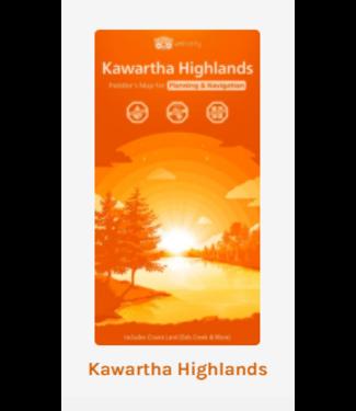 UNLOSTIFY UNLOSTIFY KAWARTHA HIGHLANDS - PADDLER'S MAP