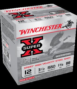 "Winchester WINCHESTER 12-GAUGE - 3.50"" - BB SHOT - SUPER X - XPERT HIGH VELOCITY STEEL SHOT - WATERFOWL (25 SHOTSHELLS)"