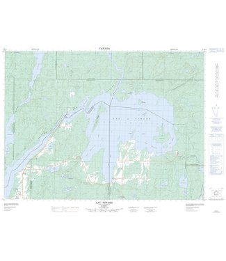 CANADIAN TOPO CANADIAN TOPO TOPOGRAPHIC MAP - 031M10 - LAC SIMARD