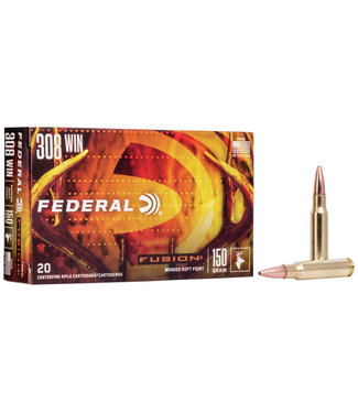 FEDERAL FEDERAL .308 WIN - 150GR - FUSION BONDED SOFT POINT (20 CARTRIDGES)