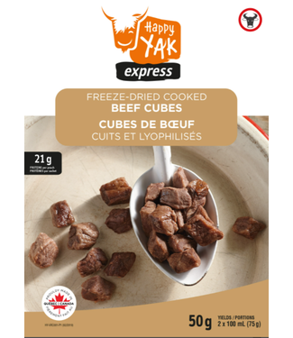 HAPPY YAK HAPPY YAK FREEZE-DRIED COOKED BEEF CUBES (50G)