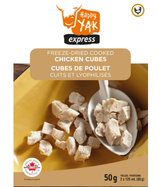 HAPPY YAK Copy of HAPPY YAK FREEZE-DRIED COOKED BEEF CUBES (50G)