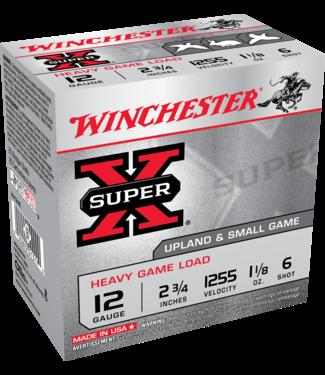 "Winchester WINCHESTER 12-GAUGE - 2.75"" - #6 SHOT - SUPER X HEAVY LEAD LOAD- RABBIT/GROUSE/PHEASENT  (25 SHOTSHELLS)"