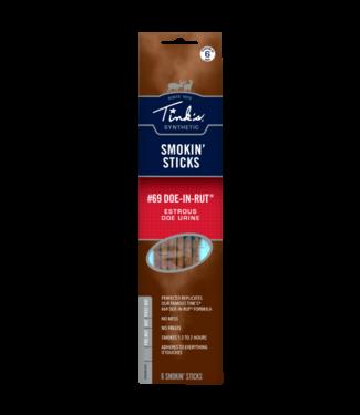 TINK'S TINK'S SMOKIN' STICKS - #69 DOE-IN-RUT - DEER LURE (6 PACK)
