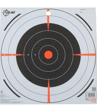"""ALLEN ALLEN EZ-AIM BULLSEYE PAPER TARGET (12""""X12"""") (13 PACK)"""