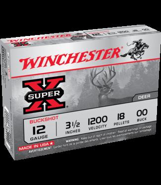 """Winchester WINCHESTER 12 GAUGE (3.5"""") #00 BUCK - DEER - SUPER X (5 SHOTSHELLS)"""