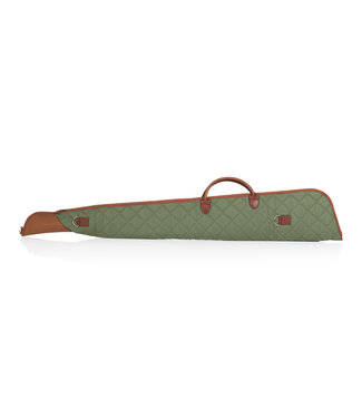 """LEVY'S LEVY'S REMINGTON SCOPED LONG RIFLE BAG 48"""" - GREEN QUILTED CANVAS"""
