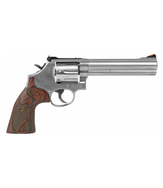 """SMITH & WESSON (S&W) SMITH & WESSON (S&W) 686 DOUBLE-ACTION REVOLVER(6 ROUND) .357 MAG - WOOD GRAIN HANDLE - 6"""" BARREL"""