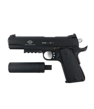 "GERMAN SPORTS GUN (GSG) GERMAN SPORT GUNS (GSG) 1911 TACTICAL SEMI-AUTO PISTOL (10 ROUND) .22LR  -  MATTE BLACK - 5.4"" BARREL"