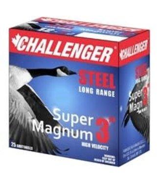 "CHALLENGER CHALLENGER 12-GAUGE - 3.00"" - #BB SHOT - 1 1/8 OZ - STEEL - SUPER MAGNUM (25 SHOTSHELLS)"