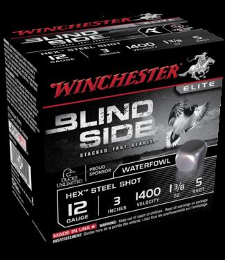 """Winchester WINCHESTER 12-GAUGE - 3.00"""" - #5 SHOT - BLIND SIDE HEX STEEL SHOT - WATERFOWL (25 SHOTSHELLS)"""