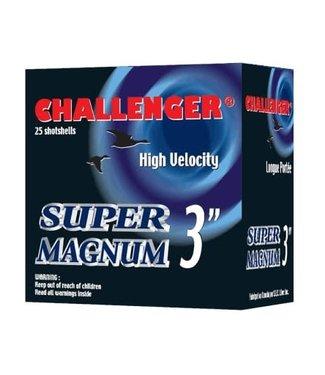 "CHALLENGER CHALLENGER 12-GAUGE - 3.00"" - #2 SHOT - 1 7/8 OZ - STEEL - SUPER MAGNUM HIGH VELOCITY (25 SHOTSHELLS)"