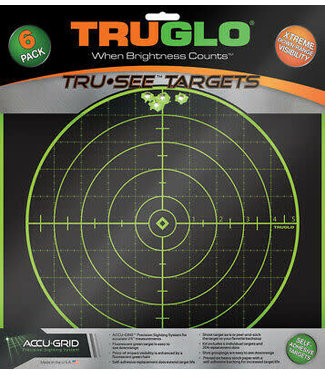 TRUGLO TRUGLO TRU-SEE TARGETS - 100YD (6 PACK)