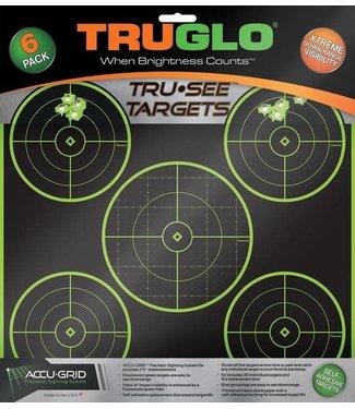 TRUGLO TRUGLO TRU-SEE TARGETS - 5-BULLSEYE (6 PACK)