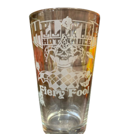 Hellfire Fiery Fool 16 oz Very Limited Edition Pint Glass