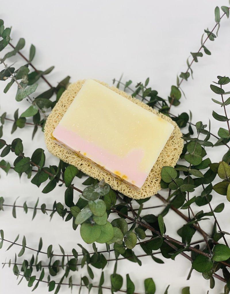 Beige soap dish